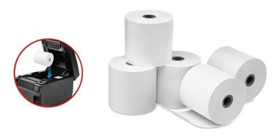 Contometro de papel térmico 80 mm x 80 mm x 13 mm para ticketeras pos 2